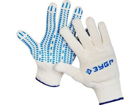 ЗУБР ПРОТЕКТОР, размер L-XL, перчатки трикотажные, с ПВХ покрытием, 11452-XL