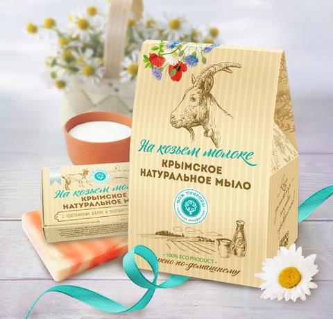 МДП Подарочный набор натурального мыла Домик НА КОЗЬЕМ МОЛОКЕ, Мыло на козьем молоке: Сливочный мусс 100г, Мускатная долина 100г, Молочный шоколад 100г