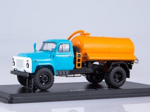 GAZ-53A Cesspool truck ANM-53 blue-orange 1:43 Start Scale Models (SSM)