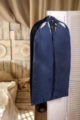 чехол для мужского костюма 60*100*10 см, классика ночной бриз