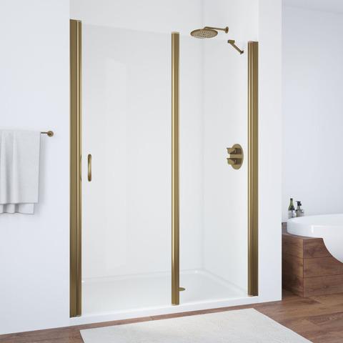Душевая дверь в нишу Vegas Glass EP-F-1  профиль бронза, стекло прозрачное