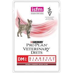 Влажный корм для кошек, Purina Pro Plan Veterinary Diets DM, при диабете с говядиной