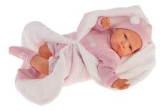 Munecas Antonio Juan Кукла Эдурне в розовом, озвученная (детский лепет), 52 см (1954P)