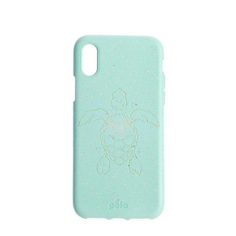 Чехол для телефона PELA iPhone XR Ocean Turtle (мятный с черепахой)