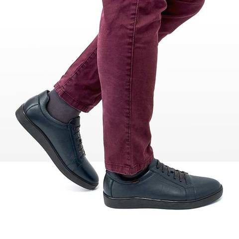 Мужские теплые кроссовки синего цвета
