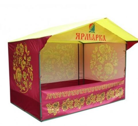 Торговая палатка Митек с логотипом «Домик» 3 x 1,9