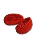 Вязаные туфли - Красный. Одежда для кукол, пупсов и мягких игрушек.