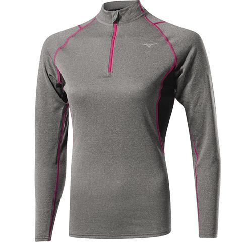 Mizuno WooL H/Z  Термобелье рубашка на молнии женская