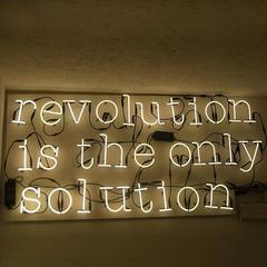 Seletti 01422_060 — Настенный накладной светильник REVOLUTION IS THE ONLY SOLUTION NEON ART