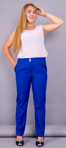 Елія. Святкові жіночі брюки супер сайз. Електрик.