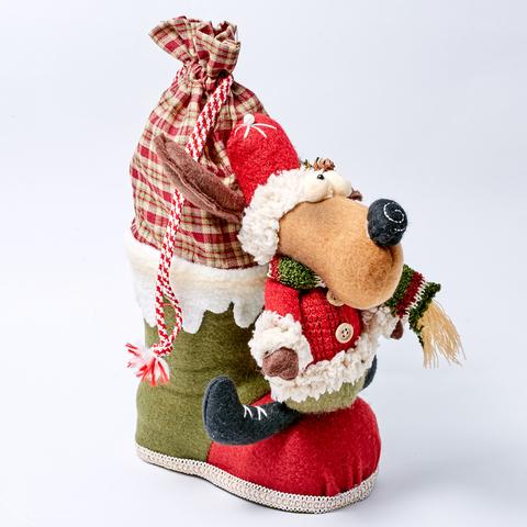"""Новогодняя игрушка """"ЛОСЬ                               НА САПОЖКЕ"""""""