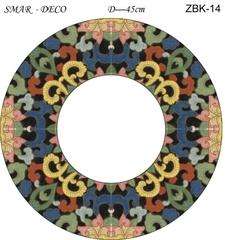 Эскиз для росписи, Зеркало диаметр-45см, SMAR-ZBK-14