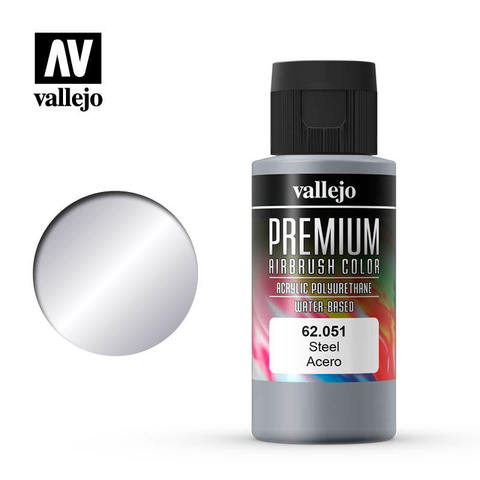 Premium Airbrush Steel 60 ml.