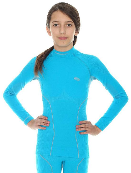 Термобелье рубашка подростковая Brubeck Thermo голубая (LS11700) для девочек