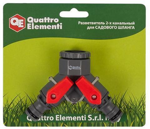 Разветвитель QUATTRO ELEMENTI 2-х канальный, внутр. резьба 1/2