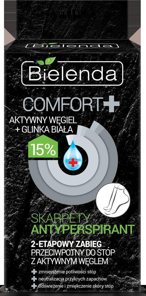 COMFORT Антиперспирант носки 2-шаговая процедура для стоп с активированным углем и белой глиной 15% 2х6гр