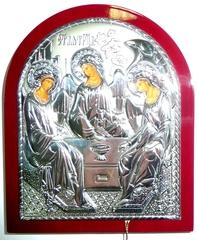 Серебряная икона Святой Троицы 11х9см