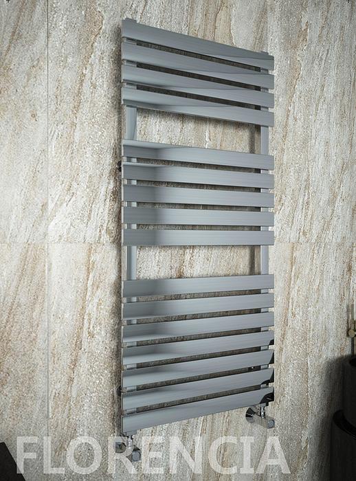 Florencia - водяной дизайн полотенцесушитель с прямоугольными горизонталями.
