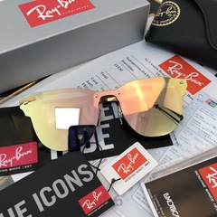 Ray Ban Blaze Clubmaster RB3576 Gold