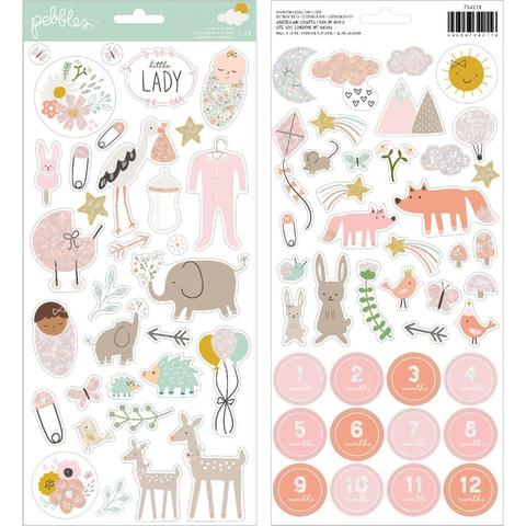 Набор стикеров Peek-A-Boo You Cardstock Stickers 15х30 см -Girl