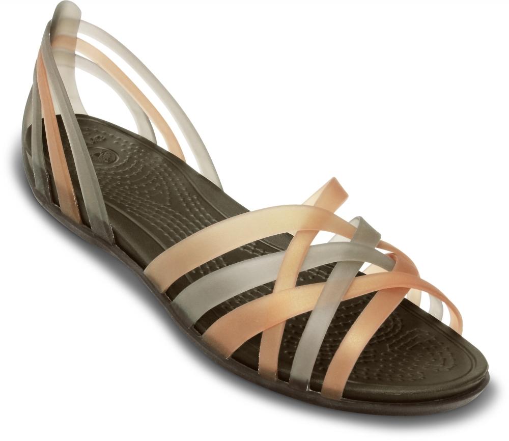 Женские сандалии Crocs Huarache Flat Bronze/Espresso 14121
