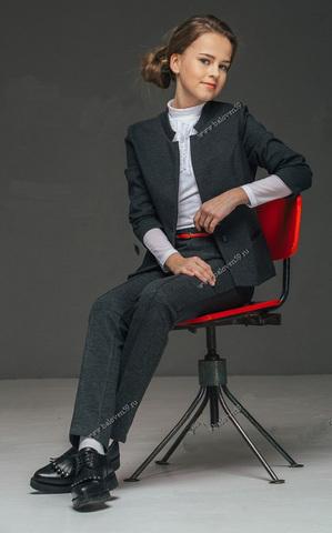 Баловень Школьный жакет для девочки серый Жт 3.0 купить в интернет-магазине Дочкам-сыночкам