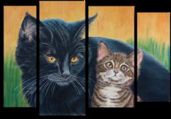 "Модульная картина""Два котенка"""