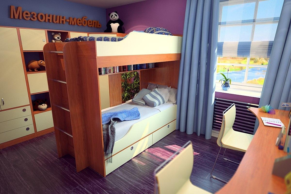 Кровать двухъярусная Твинс