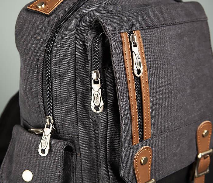 BAG394-1 Черный компактный рюкзак с одной лямкой через плечо фото 04