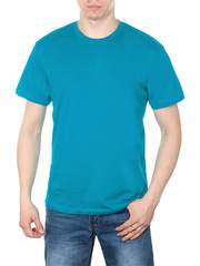 4495-9 футболка мужская, голубая