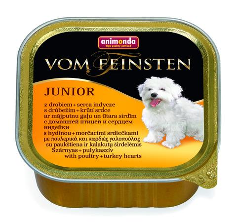 Консервы Animonda Vom Feinsten Junior с мясом домашней птицы и сердцем индейки для щенков и юниоров