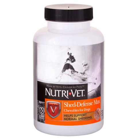 Nutri-Vet Shed Defense НУТРИ-ВЕТ ШЕД ДЕФЕНС ЗАЩИТА ШЕРСТИ витаминный комплекс для шерсти собак, с Омега3.