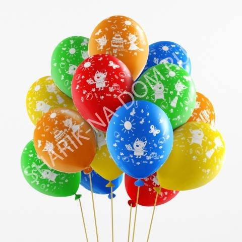 С рисунком Воздушные шары Три кота (торт) Три_Кота_Подарки.jpg
