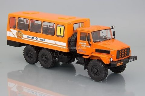 Ural-4322 shift work bus orange 1:43 DeAgostini Auto Legends USSR Trucks SE#2