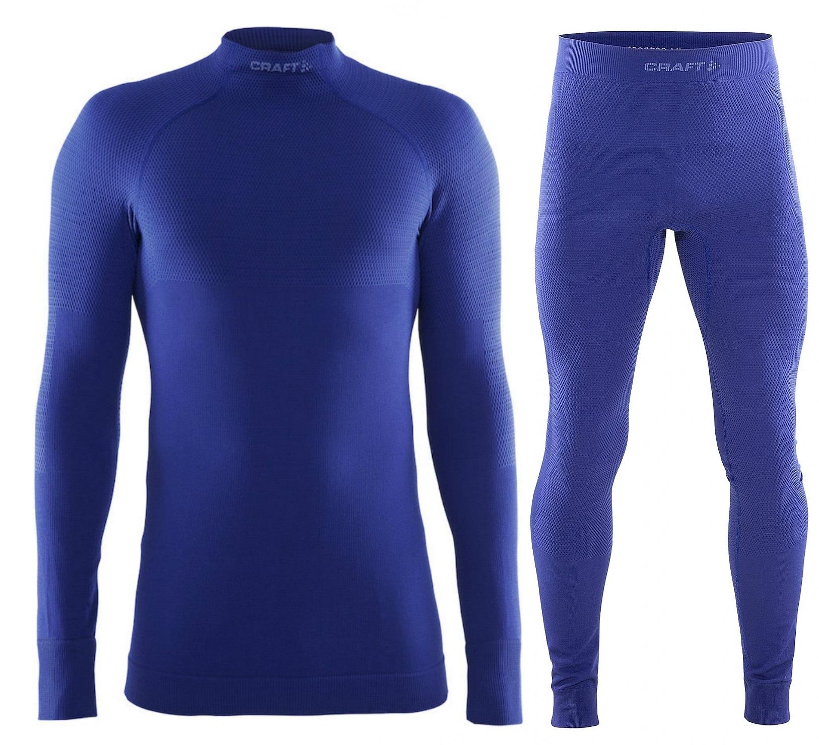 Термобелье комплект Craft Warm мужской синий | Five-sport 1903721-1344-1903723-1344