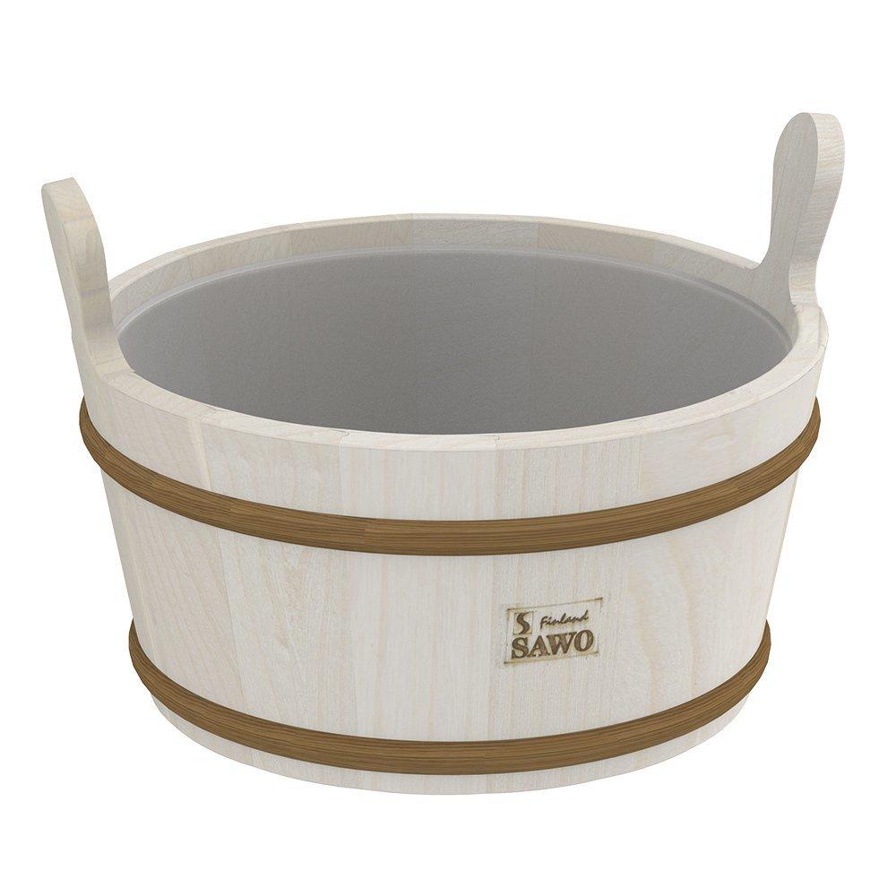 Ведра и кадушки: Кадушка деревянная SAWO 300-TA (9 литров с пластиковой вставкой) ведра и кадушки кадушка деревянная sawo 300 tp 9 литров с пластиковой вставкой
