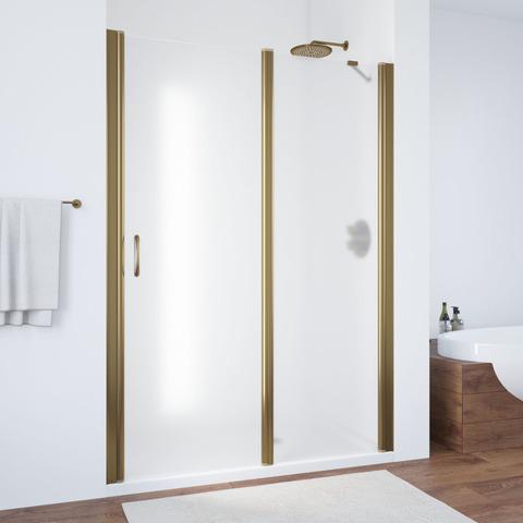 Душевая дверь в нишу Vegas Glass EP-F-1  профиль бронза, стекло сатин
