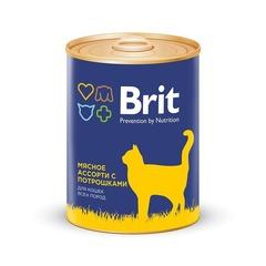Консервы для кошек, Brit Premium, мясное ассорти с потрошками