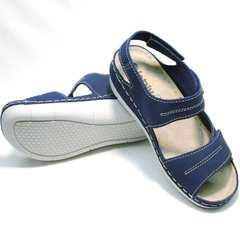 Спортивные женские сандалии из натуральной кожи Inblu CB-1U Blue.