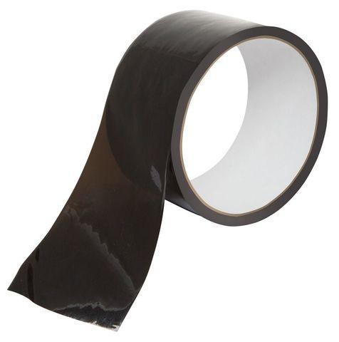 Чёрная бондажная лента Bondage Tape - 18 м.