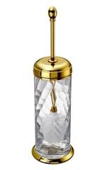 Ершик напольный с крышкой Windisch 89804O Salomonic Spiral Gold