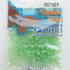 02161 Бисер 10/0 Preciosa Алебастр Соль-гель мятно-зеленый