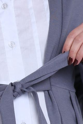 Блузка 01052 серый