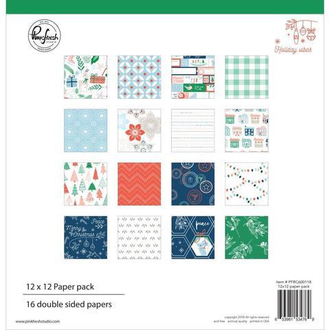 Набор двухсторонней бумаги 30х30 от Pinkfresh Studio- 16 листов