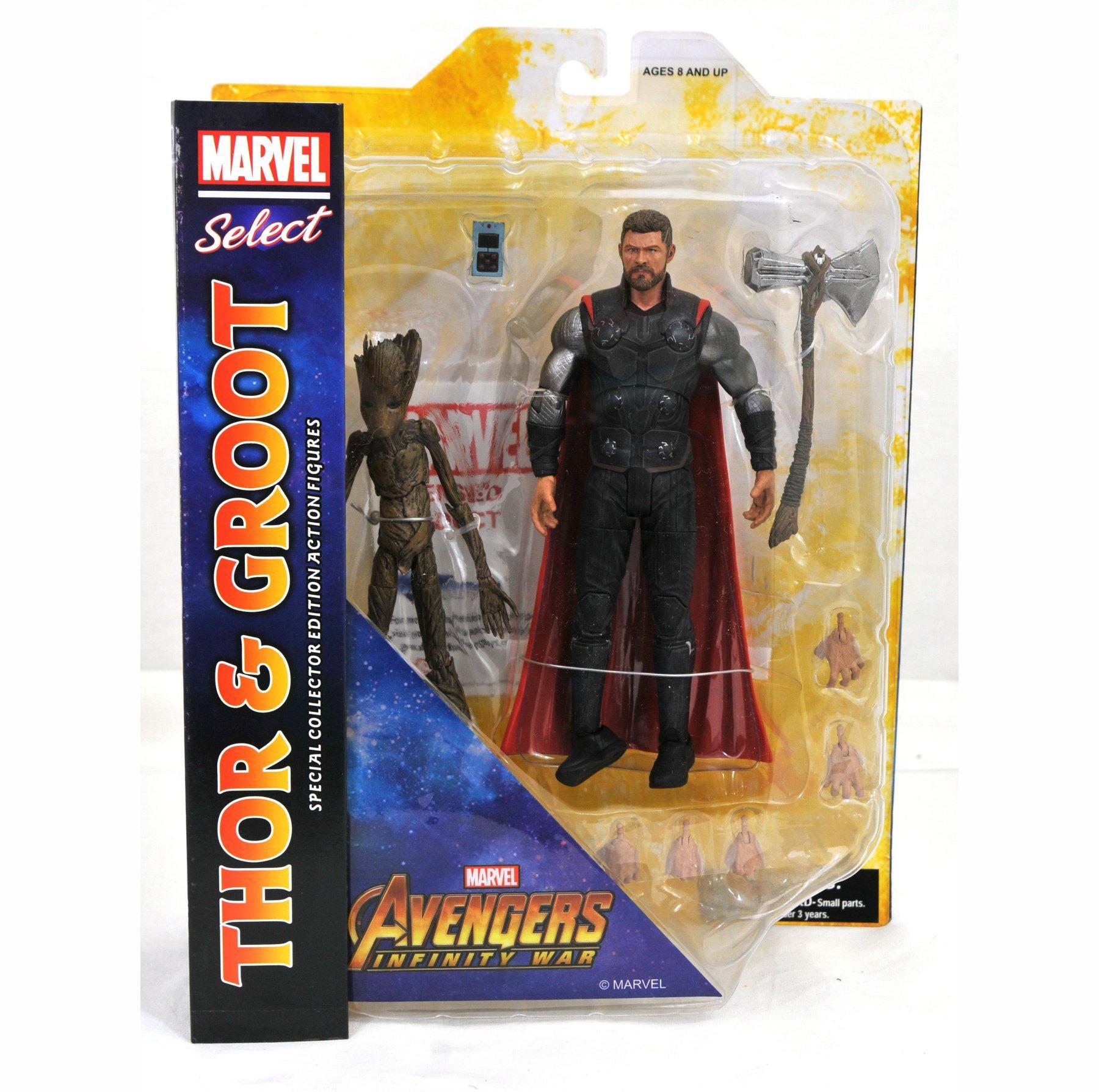 Фигурка Тор и Грут «Мстители: Война Бесконечности» Marvel Select