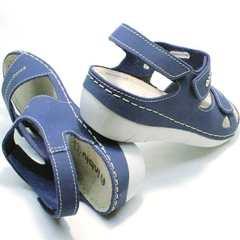 Стильные женские сандалии на липучках Inblu CB-1U Blue.
