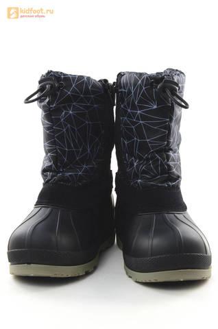 Зимние сапоги для мальчиков непромокаемые с резиновой галошей Звездные войны (Star Wars), цвет черный, Water Resistant. Изображение 5 из 16.