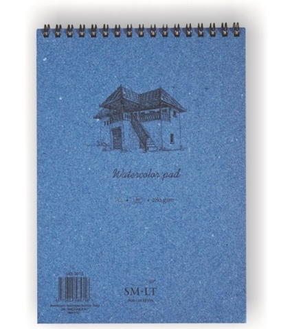 Скетчбук для акварели Authentic Watercolor 280г/м2 (целлюлоза) А4 35л спираль по короткой стороне