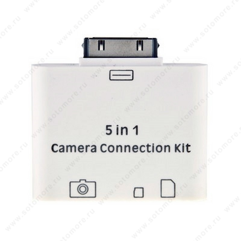 Адаптер iPad Connection Kit разъем 30-pin белый