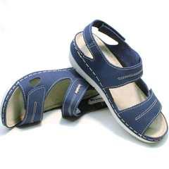 Женские спортивные босоножки на липучках Inblu CB-1U Blue.